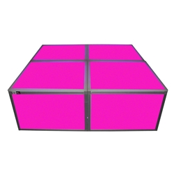 "ProX Lumo Stage 4x4 Acrylic Platform Package, 16"" High dance stage, light stage, disco stage"