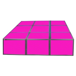 "ProX Lumo Stage 6x6 Acrylic Platform Package, 16"" High dance stage, light stage, disco stage"