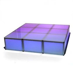 "ProX Lumo Stage 6x6 Acrylic Dance Stage w/Optional LED Lights, 16"" High dance stage, light stage, disco stage, lumo stage, light up stage, LED dance stage, nightclub stage"