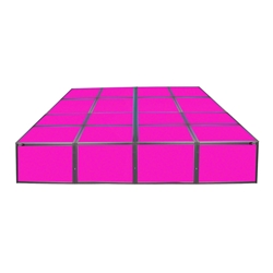 "ProX Lumo Stage 8x8 Acrylic Platform Package, 16"" High dance stage, light stage, disco stage"