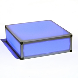 "ProX Lumo Stage 2x2 Acrylic Platform Riser, 8"" High dance stage, light stage, disco stage"