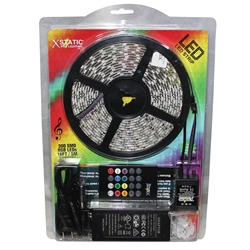 Xstatic Pro Sound-Activated 16.4 300 RGB LED Light Strip Kit with Wireless Remote LED lighting, xstatic pro, xstatic pro lighting, prox, prox direct, prox direct lighting, led strip light, rope light, X-S300SAKIT, sound activated