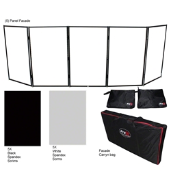 ProX 5 Panel Quick-Release DJ Facade Package, Black Frame  ProX Direct, ProX, dj facade, facade, panel facade