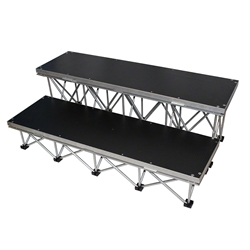 "ProX StageX 2-Step Stairs for 24"" High Stage ProX Direct, ProX StageX, portable stage, portable staging, stage steps, 2-step, 16"" step, stage stairs"