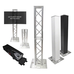 ProX Flex Tower Totem Package w/Soft Carrying Bag, Adjustable 3.3H - 6.6H trussing totems, trussing towers, ProX Direct, ProX, Flex Tower, Flex Tower Totem, adjustable tower