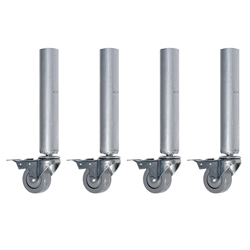 "QuickLock Staging Fixed Legs with Casters, 16"" High (4-Pack) 4x4, 48x48, 3x3, 36x36, portable stage, portable staging, stage legs, quicklock, quicklock staging, fixed height, fixed legs, legs with wheels, casters"