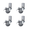 "QuickLock Staging Fixed Legs with Casters, 8"" High (4-Pack)"
