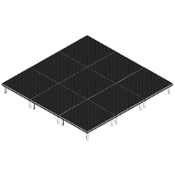 QuickLock Staging 12x12 Indoor/Outdoor Stage System 12x12, 12 x 12, portable stage platform, portable staging platform, stage deck, stage panel, quicklock, quicklock staging