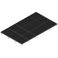 QuickLock Staging 12x20 Indoor/Outdoor Stage System 12x20, 20x12, portable stage platform, portable staging platform, stage deck, stage panel, quicklock, quicklock staging