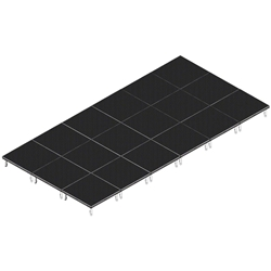 QuickLock Staging 12x24 Indoor/Outdoor Stage System 12x24, 24x12, portable stage platform, portable staging platform, stage deck, stage panel, quicklock, quicklock staging