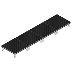 QuickLock Staging 4x16 Indoor/Outdoor Stage System 4x16, 16x4, portable stage platform, portable staging platform, stage deck, stage panel, quicklock, quicklock staging
