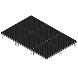 QuickLock Staging 8x12 Indoor/Outdoor Stage System 8x12, 12x8, portable stage platform, portable staging platform, stage deck, stage panel, quicklock, quicklock staging
