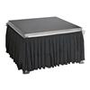 "Ameristage 8' Box-Pleat Stage Skirt for 24"" High All-Terrain Systems (8'x24"")"