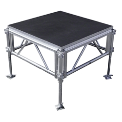 "All-Terrain 4x4 Outdoor Stage System, 24""-48"" High 4x4, 4 x 4, outdoor stage, weatherproof stage, waterproof stage"