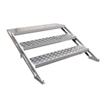 "All-Terrain 3-Step Stair Assembly for 24""-32"" Stages, Weatherproof Aluminum steps, stairs"
