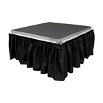 "All-Terrain 8' Wide, 32"" Long Black Skirt w/Clips skirting"