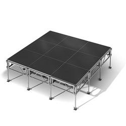 "All-Terrain 12x12 Outdoor Stage System, 24""-48"" High 12x12, 12x12 outdoor stage, outdoor portable stage, outdoor staging"