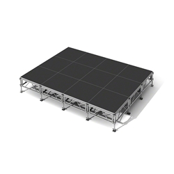 "All-Terrain 12x16 Outdoor Stage System, 24""-48"" High 12x16, 16x12  outdoor stage, outdoor portable stage, outdoor staging"
