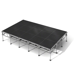 "All-Terrain 12x20 Outdoor Stage System, 24""-48"" High 12x20, 20x12, 12 x 20 outdoor stage, outdoor portable stage, outdoor staging"