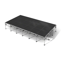 "All-Terrain 12x24 Outdoor Stage System, 24""-48"" High 12x24, 24x12 outdoor stage, outdoor portable stage, outdoor staging"