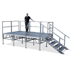 TotalPackage™ Outdoor Portable Stage Kit, 8'x12' 8x12, 12x8, folding stage, cart, storage, portable stage kit, adjustable height, total package
