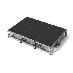 "All-Terrain 12x8 Outdoor Stage System, 24""-48"" High 12x8, 8x12 outdoor stage, outdoor portable stage, outdoor staging, small outdoor stage"