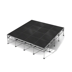 "All-Terrain 16x16 Outdoor Stage System, 24""-48"" High 16x16, 16 x 16, outdoor stage, outdoor portable stage, outdoor staging"