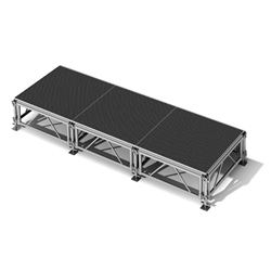 "All-Terrain 4x12 Outdoor Stage System, 24""-48"" High 4x12, 12x4, 4 x 12, outdoor stage, weatherproof stage, waterproof stage"