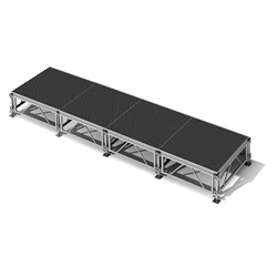 "All-Terrain 4x16 Outdoor Stage System, 24""-48"" High 4x16, 16x4, 4 x 16, outdoor stage, weatherproof stage, waterproof stage"