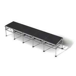 "All-Terrain 4x20 Outdoor Stage System, 24""-48"" High 4x20, 20x4, 4 x 20, outdoor stage, weatherproof stage, waterproof stage"
