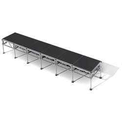 "All-Terrain 4x24 Outdoor Stage System, 24""-48"" High 4x24, 24x4, 4 x 24, outdoor stage, weatherproof stage, waterproof stage"