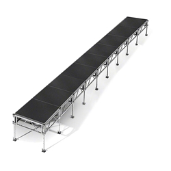 "All-Terrain 4x36 Outdoor Stage System, 24""-48"" High 4x36, 36x4, 4 x 36, outdoor stage, weatherproof stage, waterproof stage"
