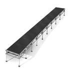 "All-Terrain 4'x36' Outdoor Stage System, 24""-48"" High, Industrial Finish 4x36, 36x4, 4 x 36, outdoor stage, weatherproof stage, waterproof stage"