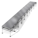 "All-Terrain 4'x36' Outdoor Stage System, 24""-48"" High, Weatherproof Aluminum 4x36, 36x4, 4 x 36, outdoor stage, weatherproof stage, waterproof stage"