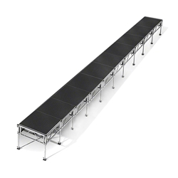 "All-Terrain 4x40 Outdoor Stage System, 24""-48"" High 4x40, 40x4, 4 x 40, outdoor stage, weatherproof stage, waterproof stage"