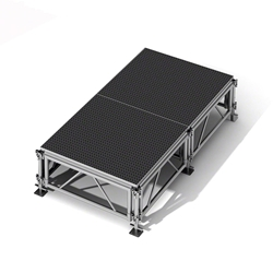 "All-Terrain 4x8 Outdoor Stage System, 24""-48"" High 4x8, 8x4, 4 x 8, outdoor stage, weatherproof stage, waterproof stage"