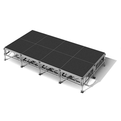 "All-Terrain 8x16 Outdoor Stage System, 24""-48"" High 8x16, 16x8 outdoor stage, outdoor portable stage, outdoor staging"