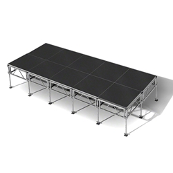 "All-Terrain 8x20 Outdoor Stage System, 24""-48"" High 8x20, 20x8, 8 x 20, outdoor stage, weatherproof stage, waterproof stage"