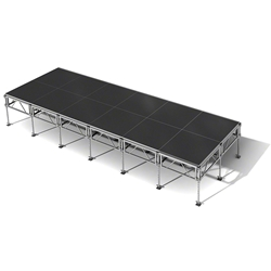"All-Terrain 8x24 Outdoor Stage System, 24""-48"" High 8x24, 24x8, 8 x 24, outdoor stage, weatherproof stage, waterproof stage"