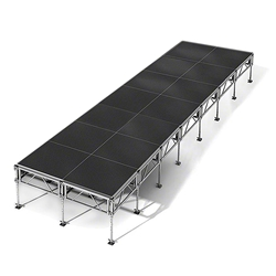 "All-Terrain 8x28 Outdoor Stage System, 24""-48"" High 8x28, 28x8, 8 x 28, outdoor stage, weatherproof stage, waterproof stage"