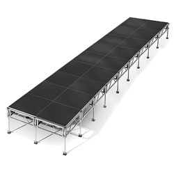 "All-Terrain 8x36 Outdoor Stage System, 24""-48"" High 8x36, 36x8, 8 x 36, outdoor stage, weatherproof stage, waterproof stage"