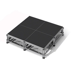"All-Terrain 8x8 Outdoor Stage System, 24""-48"" High 8x8, 8 x 8, outdoor stage, weatherproof stage, waterproof stage"