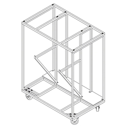 "All-Terrain Stage Accessories Trolley (36""x61"") stage dolly, handtruck, storage cart, trolley, guard rail, guard rails, stage leg storage"