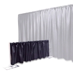 Ameristage FlexDrape 6'-10' Adjustable Backdrop Half-Wall Kit pipe and drape, curtain wall, back drop, backdrop, half wall
