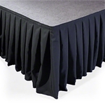 Ameristage Box-Pleat Polyester Stage Skirt - Custom Size stage skirting, custom stage skirt, platform skirt, platform skirting, boxpleat, 3x3, 4x4, 4x8, 3x8