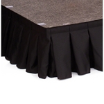 "Ameristage 8' Box-Pleat Stage Skirt for 8"" High IntelliStage Systems (8'x9"") velcro, hook and loop skirting, express deck skirt, intellistage skirt"