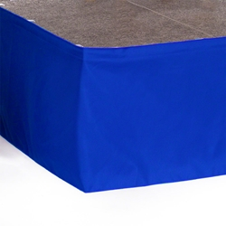 "Ameristage StageWrap Stage Skirt, 28x16"" Royal Blue (Overstock) portable stage skirting, velcro, hook and loop, 28x16, 28 x 16, 16 inch stage skirt, clearance, sale, overstock"