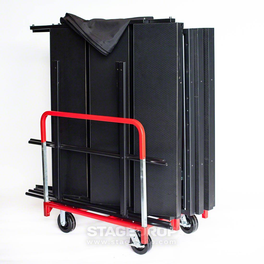 ... TotalPackage™ Dual Height Portable Stage Kit With Wheels, ...