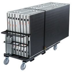 Biljax AS2100 16x16 Portable Stage & Storage Cart Package (4x8 Platforms) Biljax, 4x8, 8x4, modular, modular staging, stage cart, package, stage package, rolling storage, 16x16, 16x32, 32x16