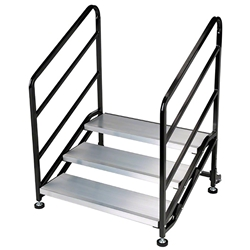 "Biljax 3-Step Quick Stair for 18"" High Stages steps, stairs"